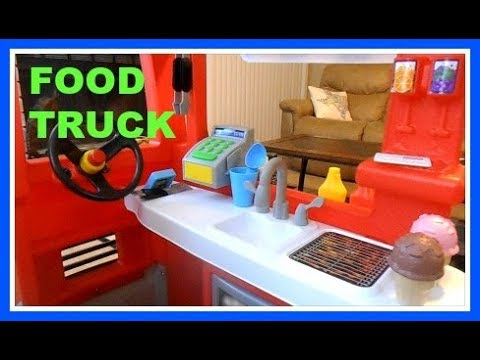 Little Tikes Food Truck 2 In 1 Truck And Kitchen Youtube