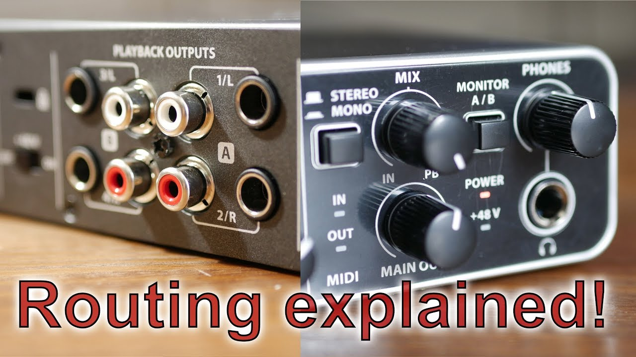 Behringer UMC-404HD | Audio Routing Explained