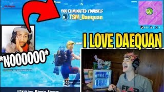 Ninja Reacts TO TSM Daequan's MOST VIEWED TWITCH CLIPS! Fortnite Funny Moments!