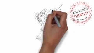 Как нарисовать милого кота ангела карандашом поэтапно за 34 секунды