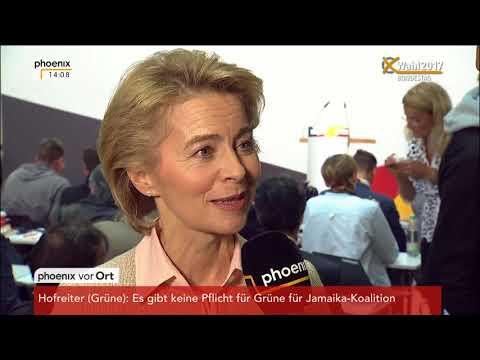 Ursula von der Leyen zu den Koalitionsverhandlungen nach der Bundestagswahl am 25.09.17