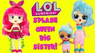 LOL SURPRISE Splash Queen Gets A Big Sister DIY Shopkins Shoppie Doll Pippa Melon Custom Makeover