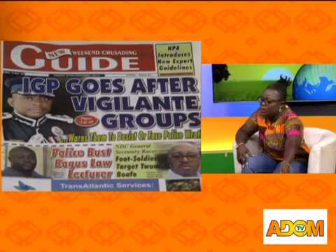 Badwam Newspaper Review on Adom TV (27-10-17)