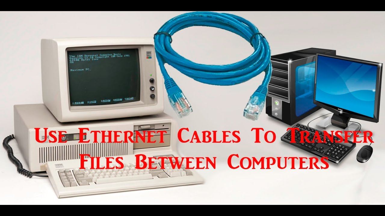 Transferring files between computers with ethernet cables - YouTube