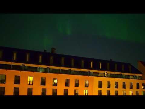 Northern lights over Helsinki 8.11.2017