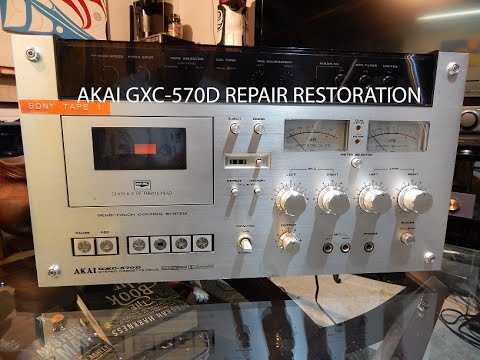AKAI GXC-570D repair restoration