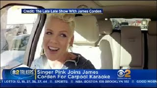 Singer Pink Joins James Corden For Carpool Karaoke