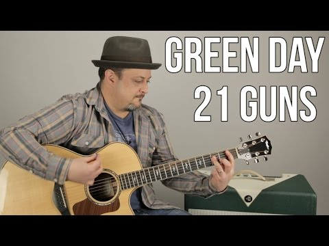 Green Day  21 Guns  How to Play on guitar  guitar lesson