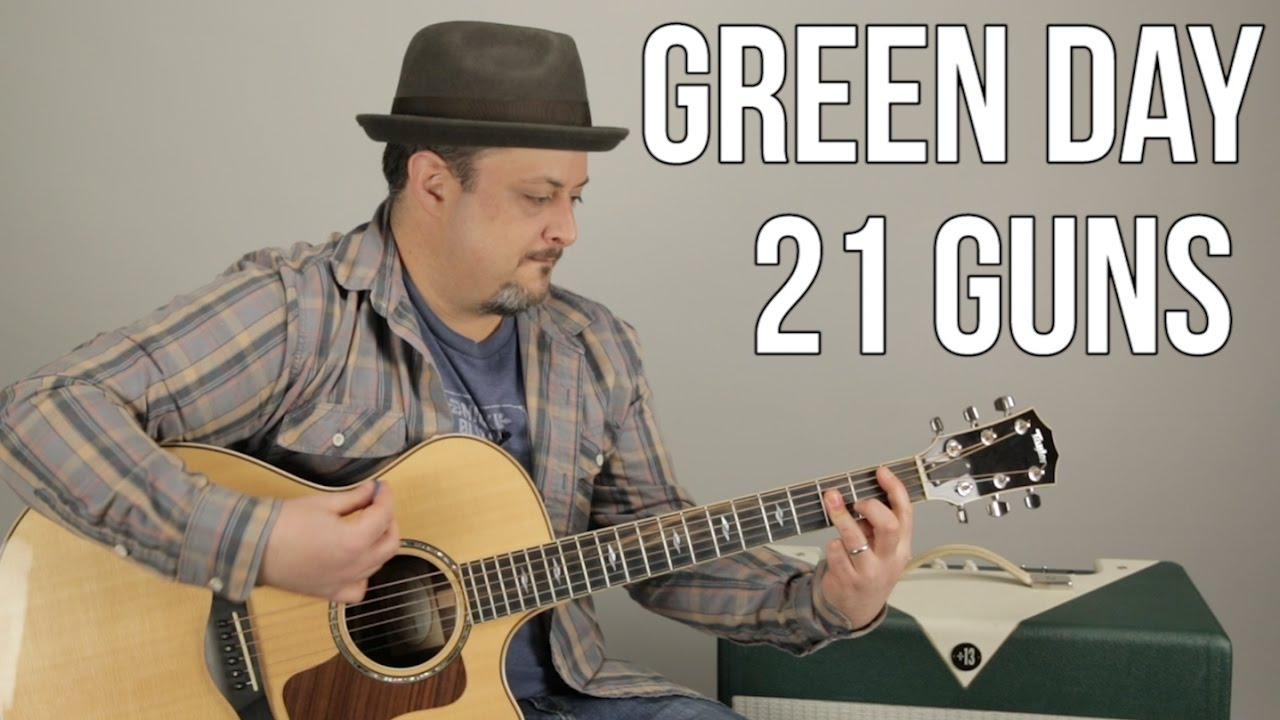 Green Day 21 Guns How To Play On Guitar Guitar Lesson Youtube