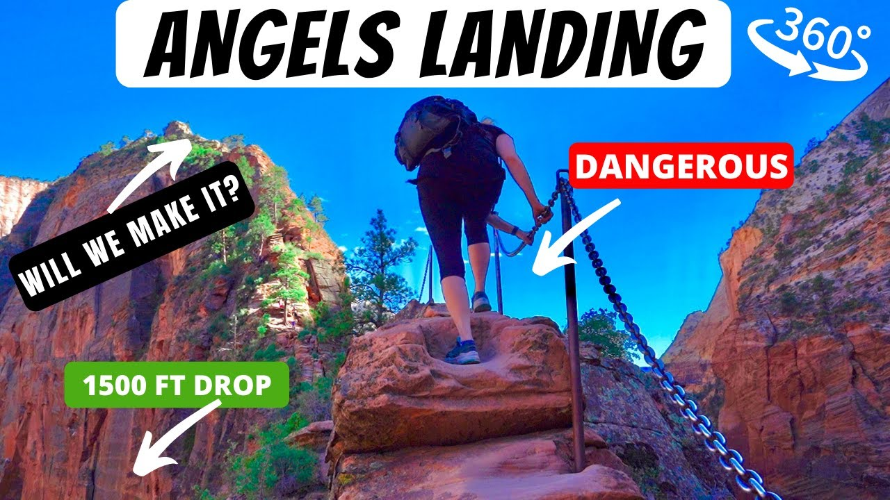 😱 ANGELS LANDING | ZION NATIONAL PARK | SCARIEST HIKE IN AMERICA!?