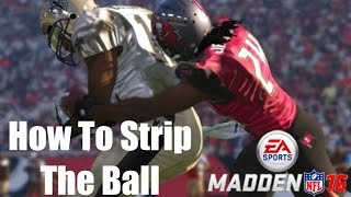 How To Strip The Ball Madden 16 - Free Madden Tips
