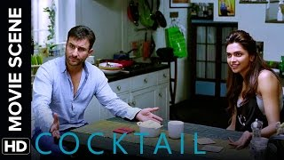 Video Saif talks it out with Deepika & Diana | Cocktail | Movie Scene download MP3, 3GP, MP4, WEBM, AVI, FLV September 2018