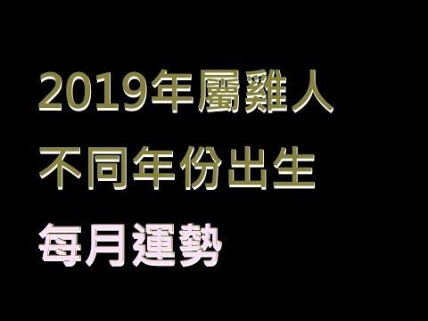 ☯️2019年屬雞人不同年份出生的🐓全年運勢大全[2019年🐓每月運勢][純文字]
