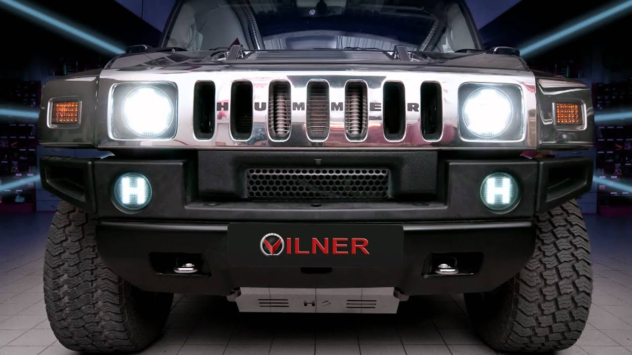 LED front lights for Hummer custom made by VILNER