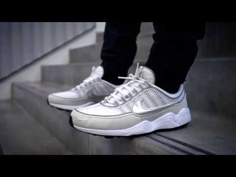 "new product c1443 dec33 Nike Air Zoom Spiridon 16 ""Light Bone Metallic Silver""   ON FEET"