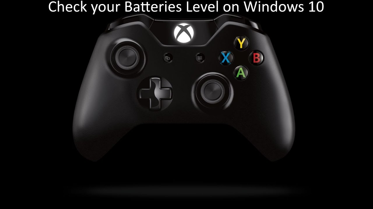 check your Xbox One Wireless controller Batteries level on Windows