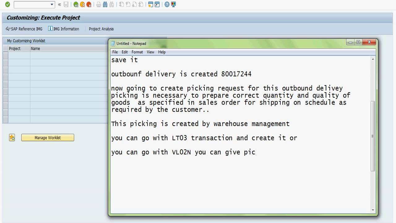 small resolution of sap sd shipping point determination picking packing and post goods issue creation