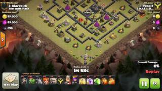 Clash of Clans - TH9 3star attack (BABY DRAGS ROCK)