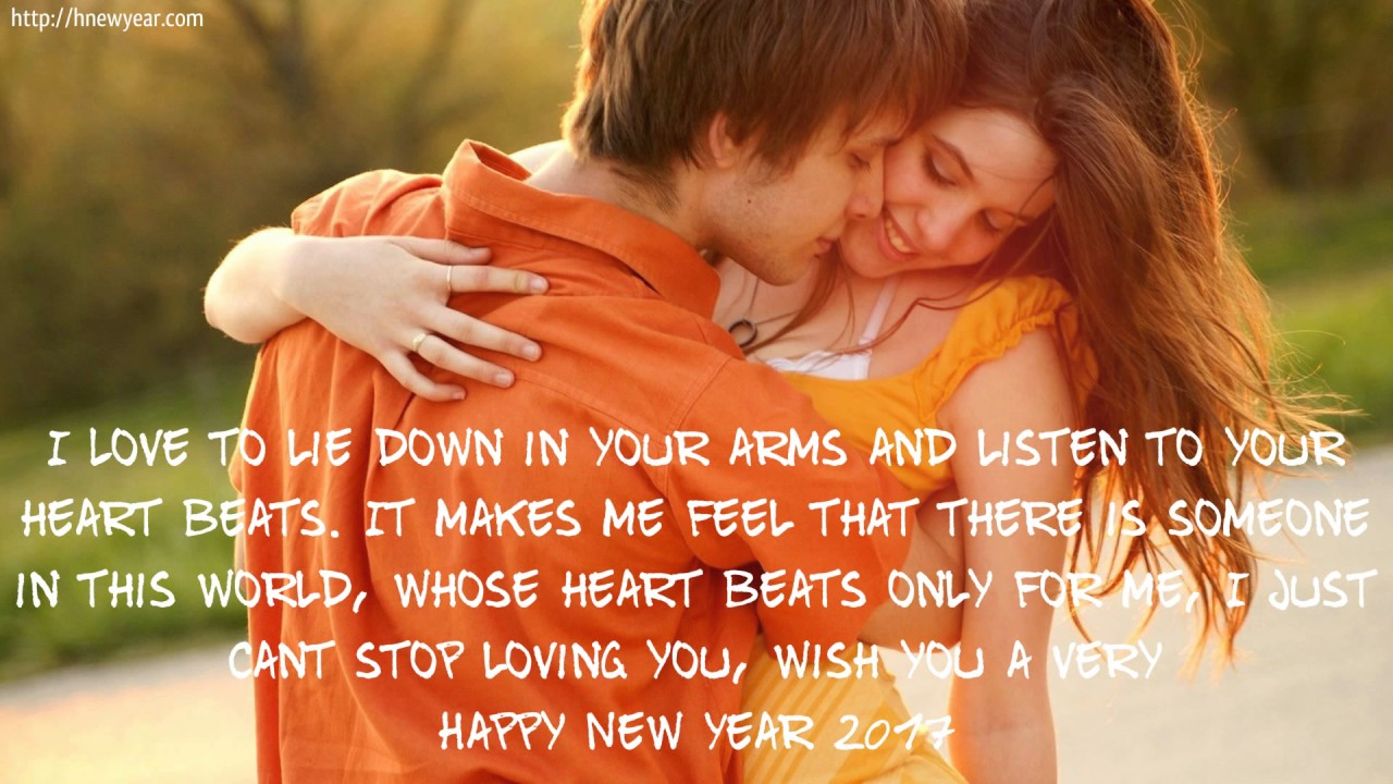 romantic new year wishes 2017 for lovely friends and girlfriend