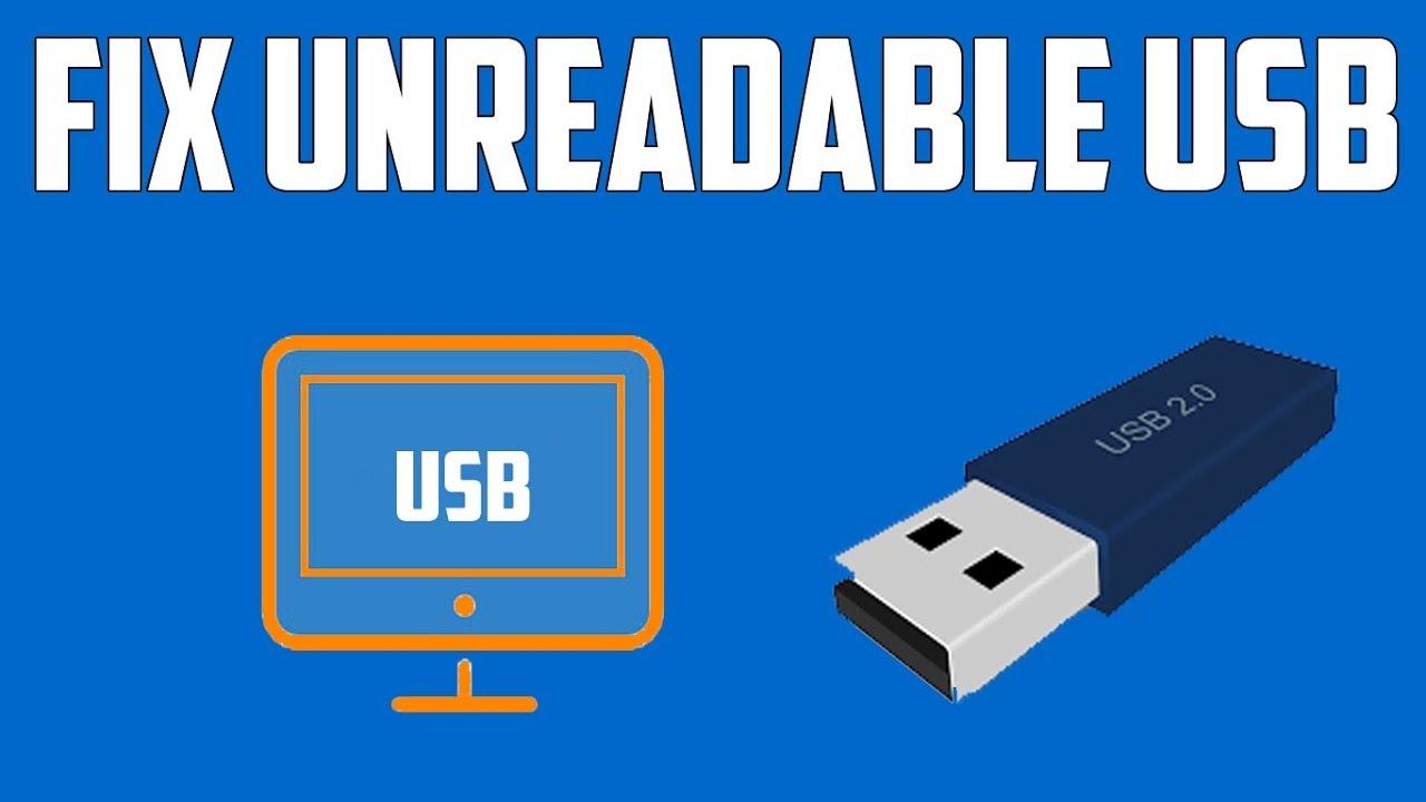 usb flash drive unreadable how to fix