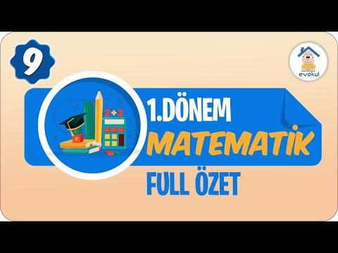 Matematik 1. Dönem Full Özet   9. Sınıf #uzaktaneğitim #evokul Kampı 7