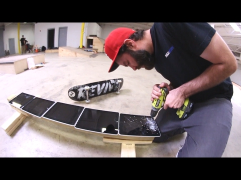 skateboard rail made of ipads