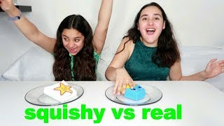 SQUISHY VS COMIDA REAL . Ultimate SQUISHY FOOD VS REAL FOOD CHALLENGE