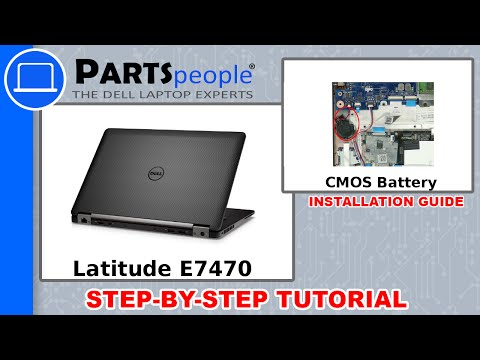 Dell Latitude E7470 (P61G001) CMOS Battery How-To Video