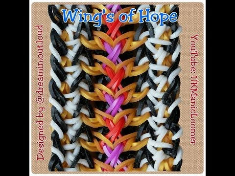 The Wings of Hope Bracelet Tutorial by @UkManicLoomer