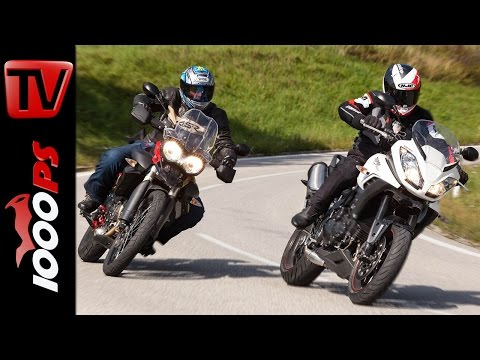 Triumph Tiger Sport vs Tiger 800 XC Testvideo | Action, Details, Sound