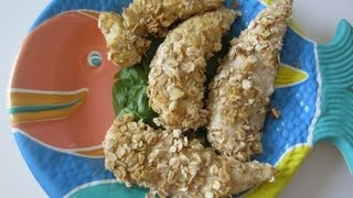 Crispy Chicken Tenders (using OATS)