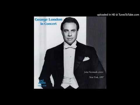 """George London sings Schubert's """"An die Musik"""""""