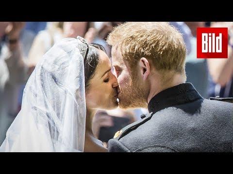 Der Kuss zwischen Prinz Harry und Meghan Markle | Die Trauhochzeit des Jahres