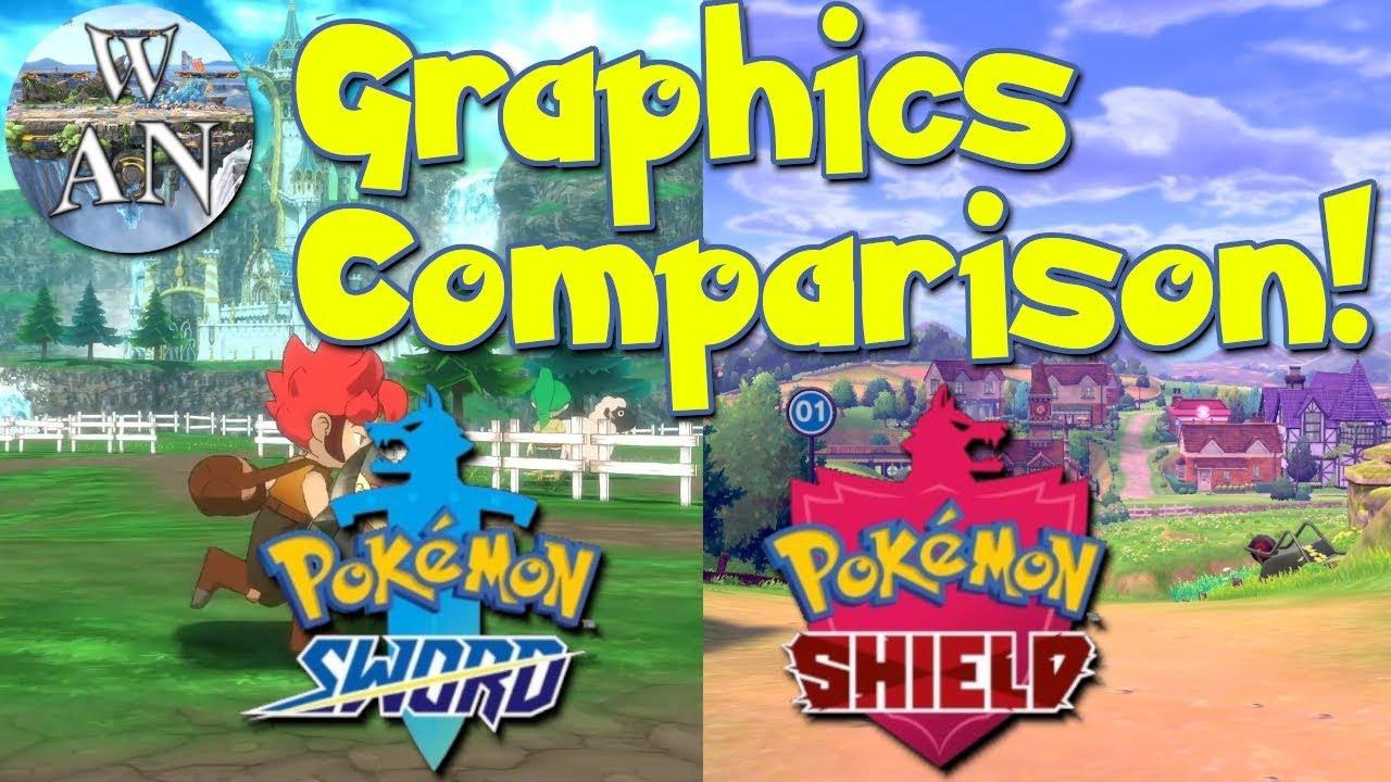 Graphics Comparison Pokemon Sword And Shield Vs Town Youtube