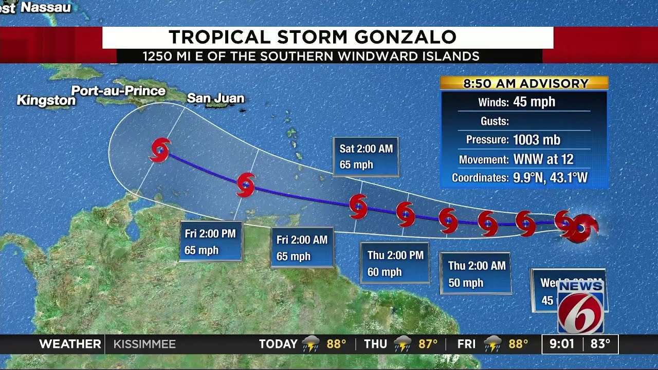 Tropical Storm Gonzalo could form today, hurricane center says