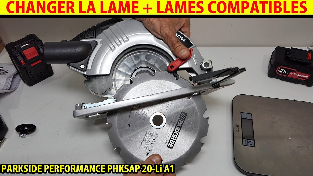 Parkside Performance Scie Circulaire 20v Brushless Changer La Lame
