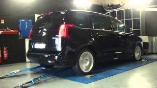 * Reprogrammation Moteur * Peugeot 5008 THP 150cv @ 185cv Dyno Digiservices Paris