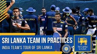 Sri Lanka Team in practices at RPICS nets | India tour of Sri Lanka 2021