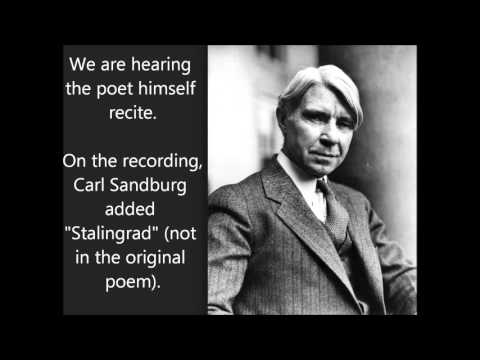 """Grass"" Carl Sandburg recites! -- poem about nature covering up humankind's bloody wars POWERFUL"