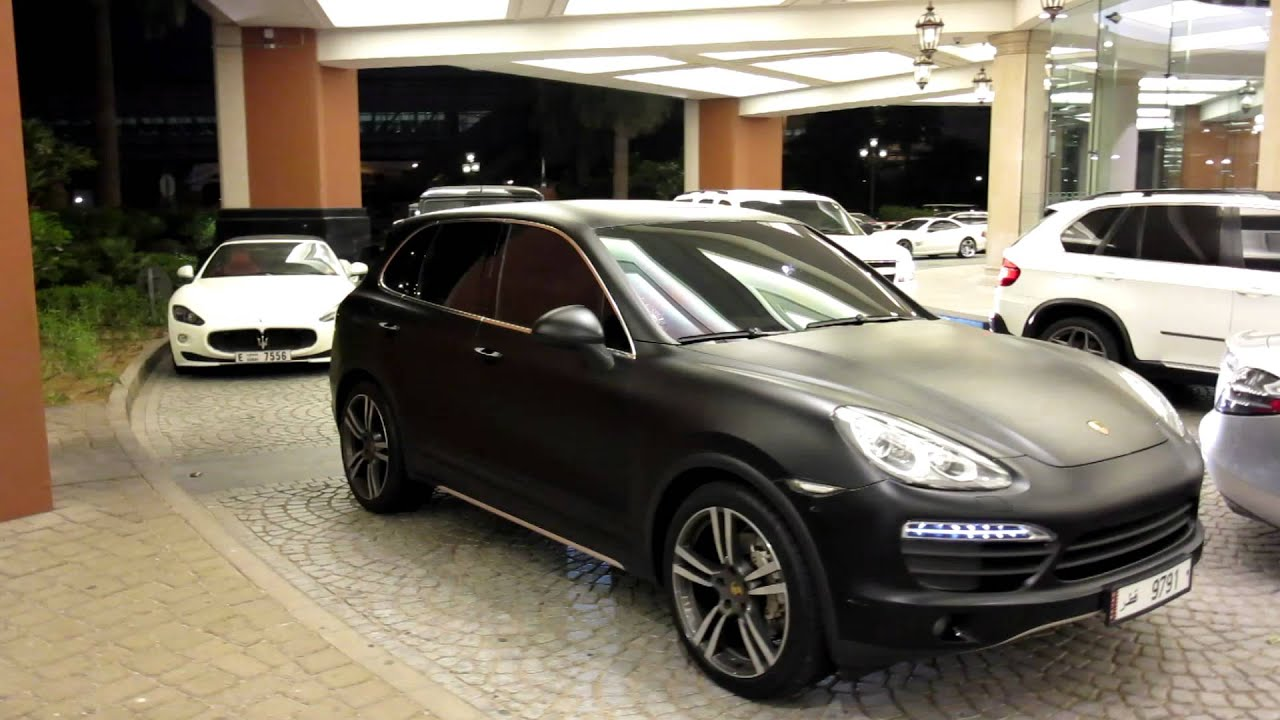 matte black Porsche Cayenne S - MoE - YouTube