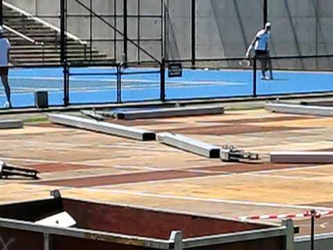 Sam Stosur Hitting At Olympic Park Sydney