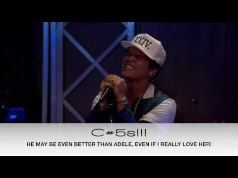 Bruno Mars in the Live Lounge VOCAL SHOWCASE...