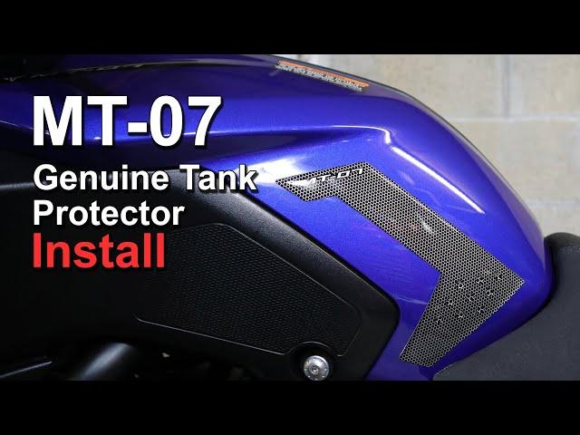 Yamaha MT-07 Genuine Tank Protector (Pad) Install