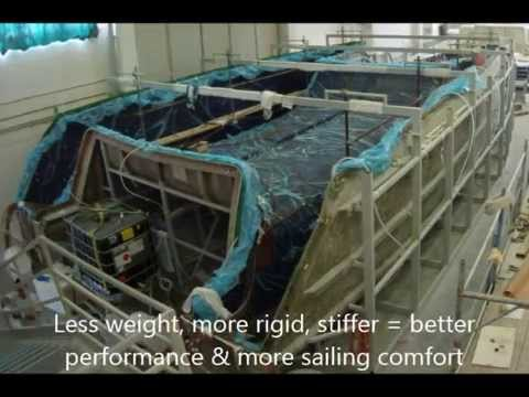 Carbon infusion production of most modern catamaran and multihull
