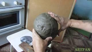 Как лепить череп человека и маску урок № 1