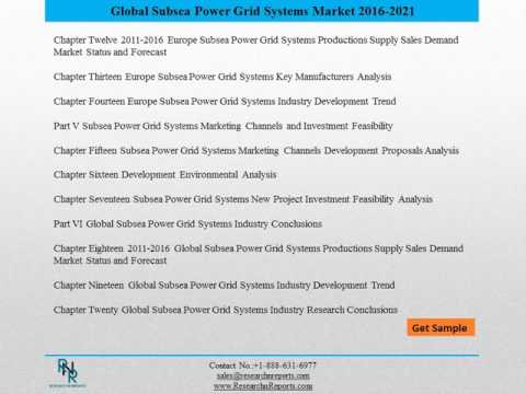 Subsea Power Grid Systems Market Trends, Challenges and Growth Drivers Analysis 2021