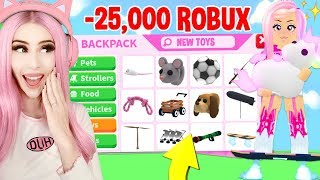 SPENDING ALL MY ROBUX UNTIL I GET ALL THE NEW TOYS IN ADOPT ME! Brand New TOY Adopt Me Update