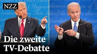 Trump vs. Biden: Das zweite TV-Duell