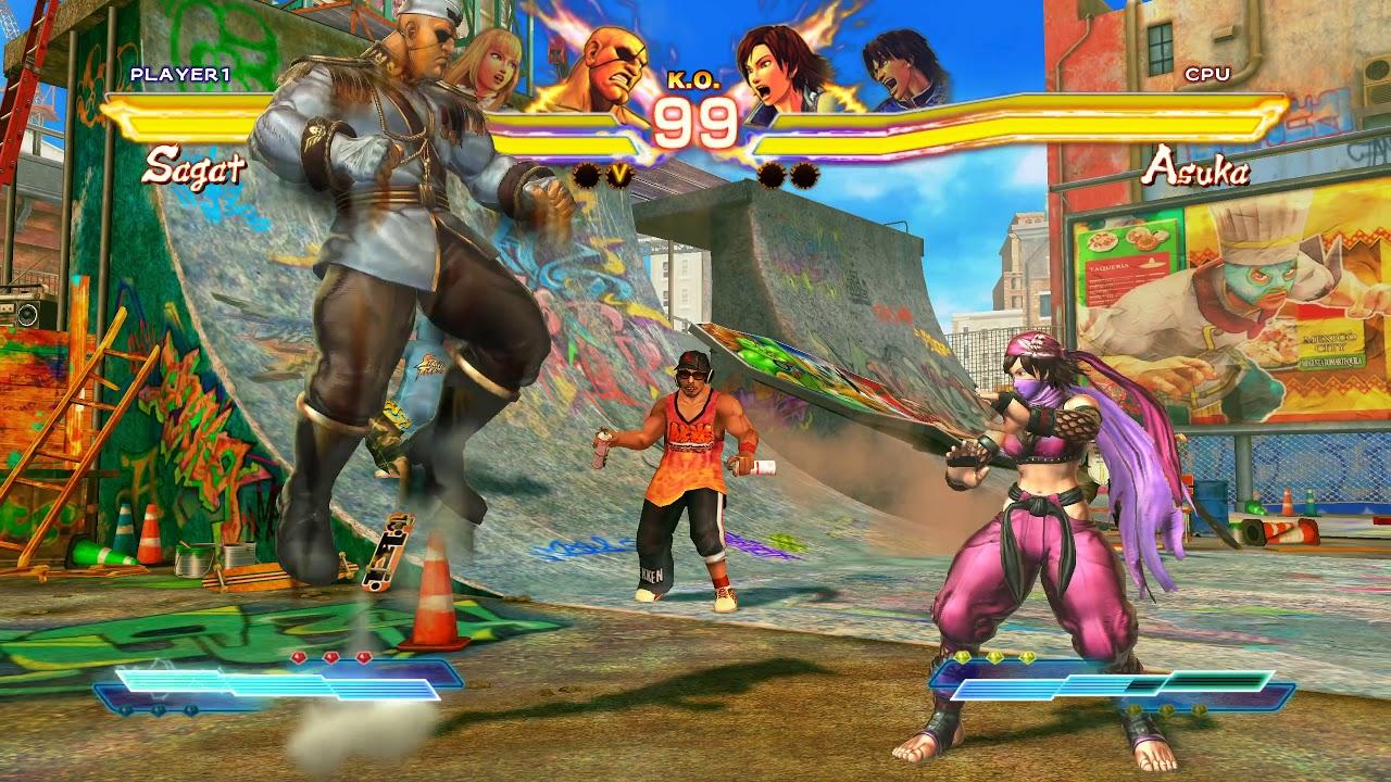 Street Fighter x Tekken Juri/Lili vs Asuka/Law PC Mod