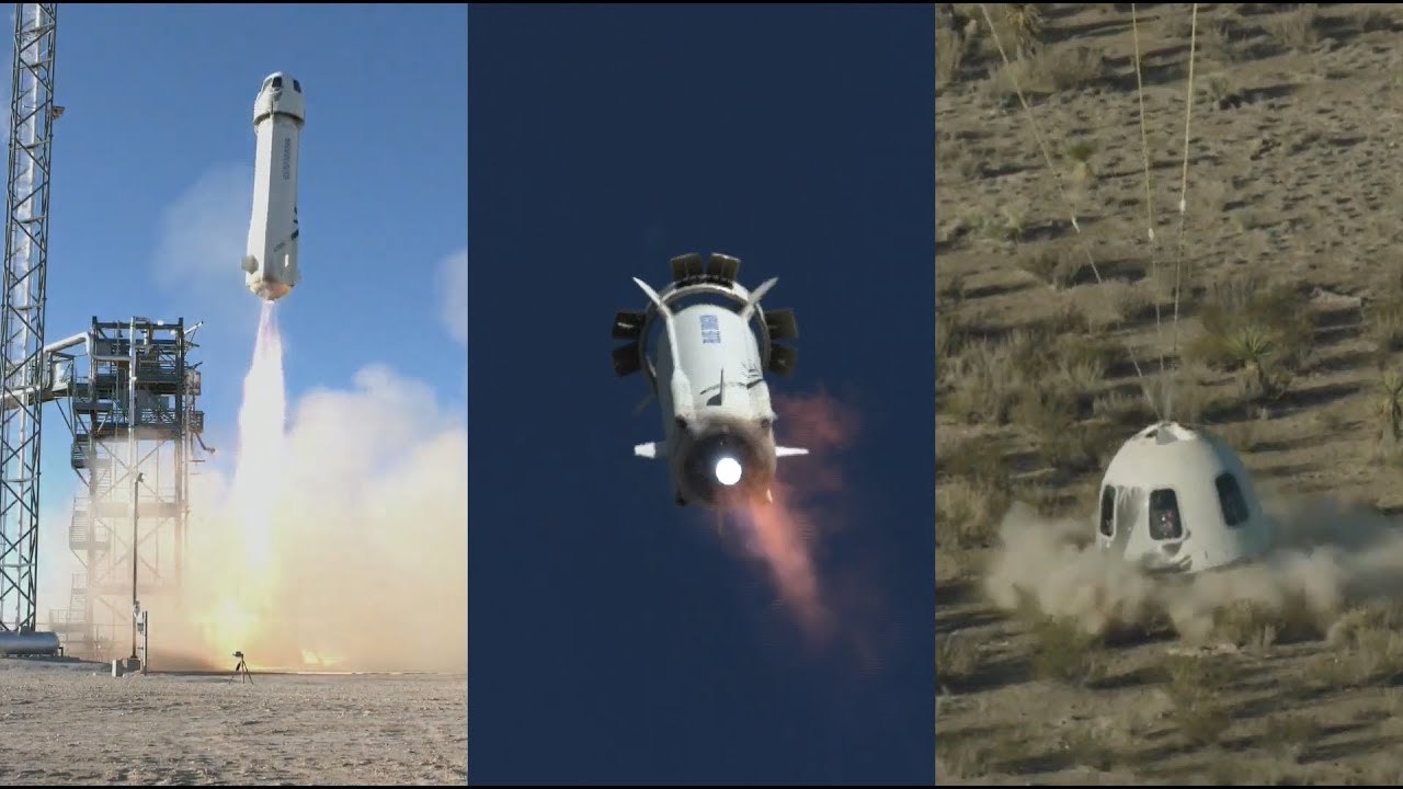 Blue Origin NS-10: New Shepard launch & landing, 23 January 2019